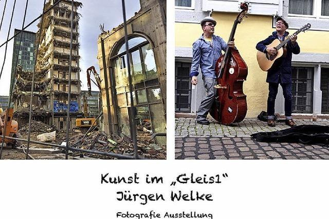 Fotografien im Gleis 1 in Hugstetten