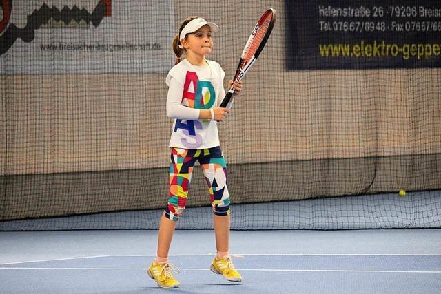 Das Breisacher Tennistalent Aurora Disco will ganz nach oben