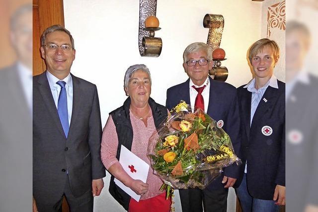 Renate Moser wird für ihr Wirken geehrt