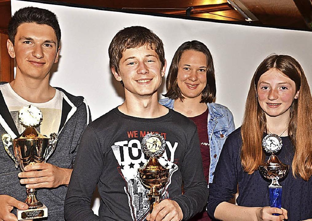 Die Vereinsmeister des Ski-Clubs Lange...ann, Johanna Knöpfle und  Lena Faller   | Foto: Markus Straub