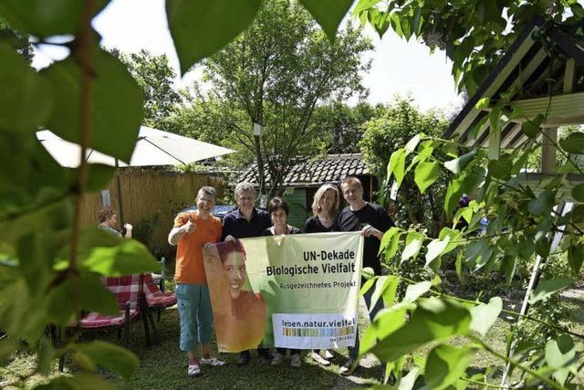 """Die Initiative """"Gartenleben"""" ist mit ihrem Lesegarten nun ein Projekt einer UN-Dekade"""