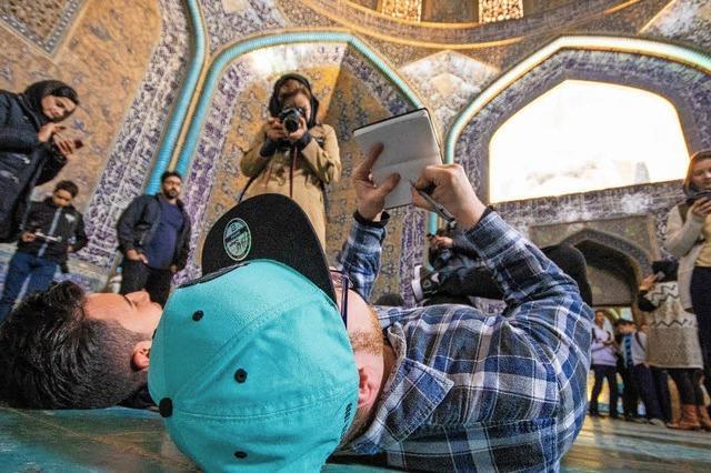 Angehende Fotografen und Grafikdesigner waren zum Austausch in Isfahan
