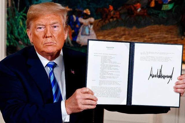 Trumps Ausstieg aus Iran-Abkommen treibt Ölpreise in die Höhe