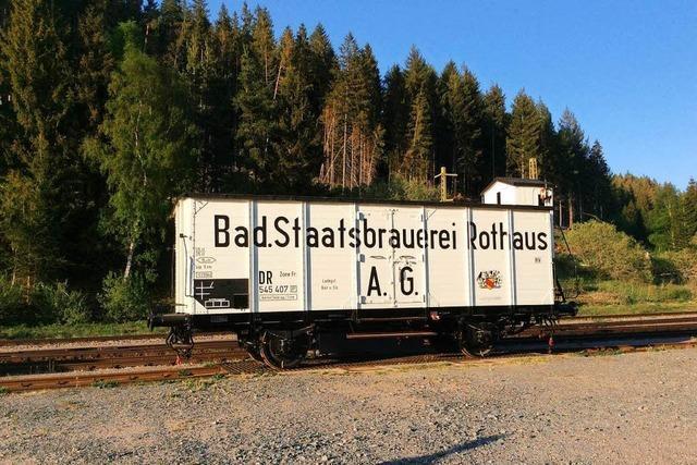 Historischer Rothaus-Bierwagon kehrt zurück auf die Schiene