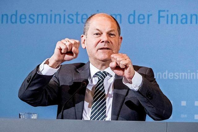 Finanzminister Scholz will mit dem Steuerplus die Bürger entlasten