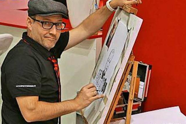 Schauen Sie in Harrys Atelier dem Zeichentalent über die Schulter!