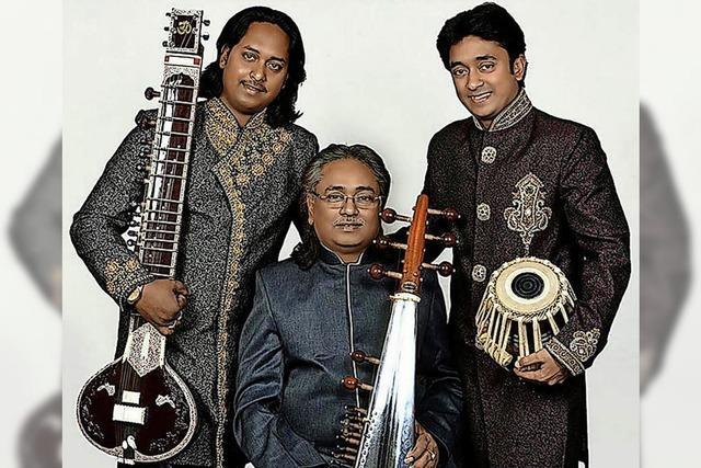 Das indische Maharaj Trio gastiert am Mittwoch, 16. Mai, ab 20 Uhr im Schlosskeller in Tiengen.