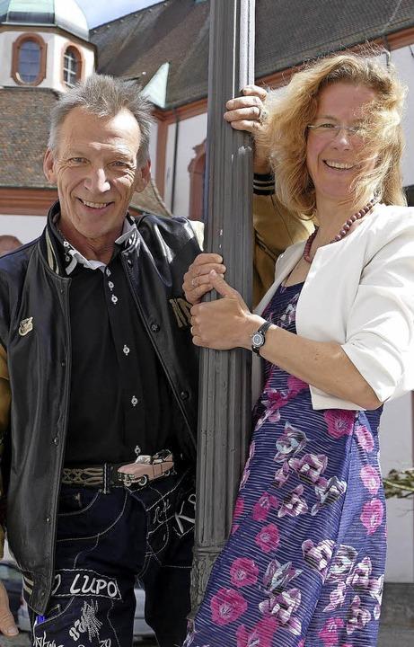 Iris Wahl und René Tschudin freuen sic...Boogie-Woogie-Nacht in Bad Säckingen.   | Foto: Hildegard Siebold