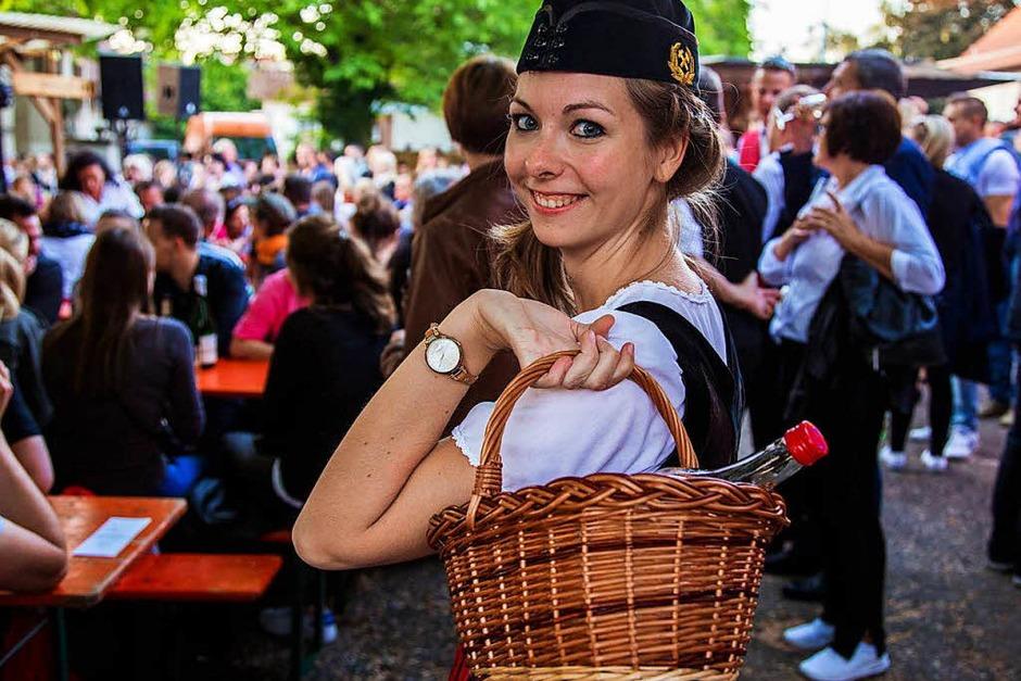 Die Besucher des Weinfests in St. Georgen durften sich am Freitagabend über schönes Wetter freuen. (Foto: Julia Klaus)