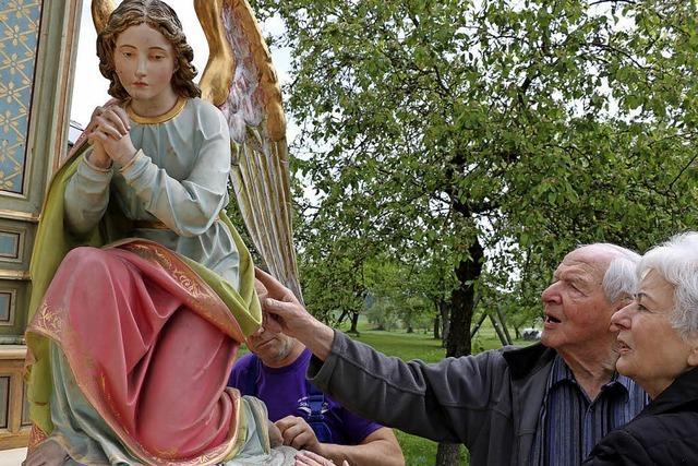 Alter Altar wird restauriert