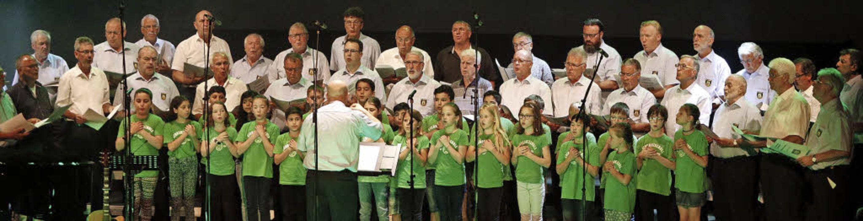 Eine Premiere feierte der Projektchor ...Kinderchor der Lahrer Eichrodtschule.   | Foto: Heidi Fössel