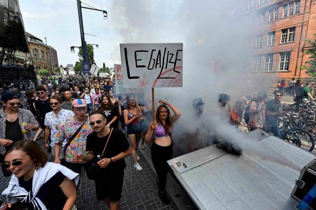 Der Marihuana-March in Freiburg  | Foto: Michael Bamberger