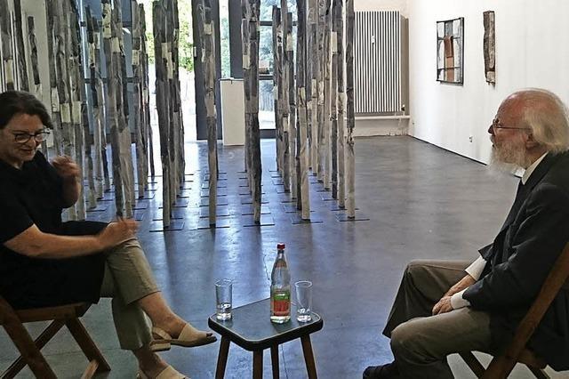 Sammler und Künstlerin im Gespräch