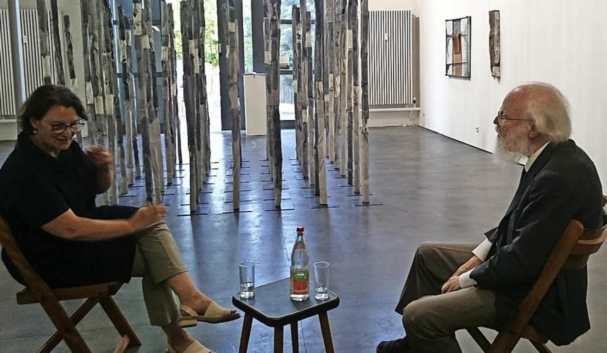 Petra Göhringer-Machleid und Franz Armin Morat im Artforum   | Foto: Susanne Ramm-Weber