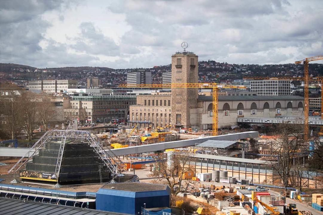 Die Stuttgart21-Baustelle  | Foto: dpa