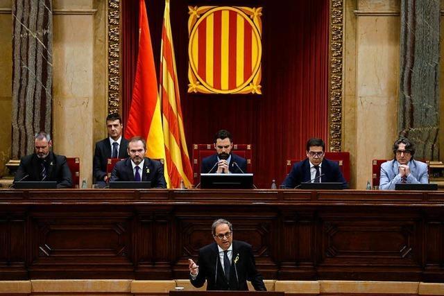 Parlament Kataloniens debattiert über Quim Torra als Regionschef