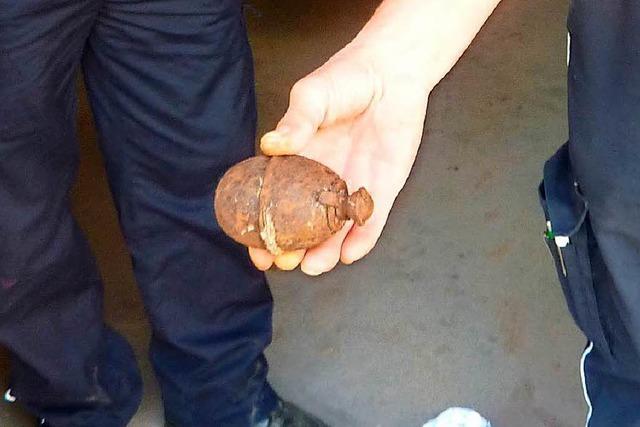 Weltkriegshandgranate, die von Wanderern am Feldberg gefunden wurde, war scharf