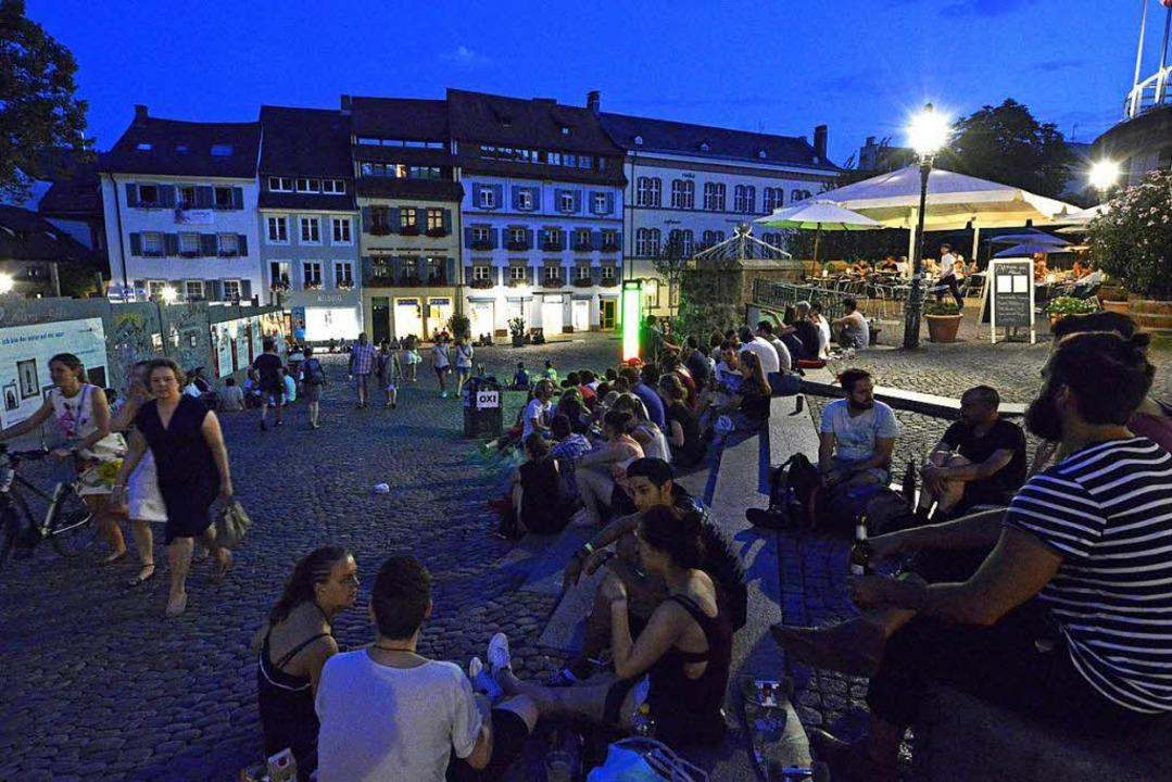 Hier fühlen sich viele Menschen wohl: ...ustinerplatz in Freiburg. (Archivfoto)  | Foto: Michael Bamberger
