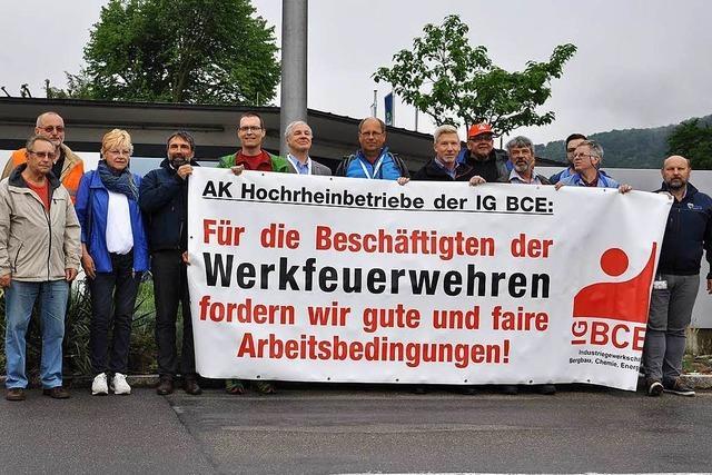Grenzach-Wyhlen: Solidarität für die Werksfeuerwehr