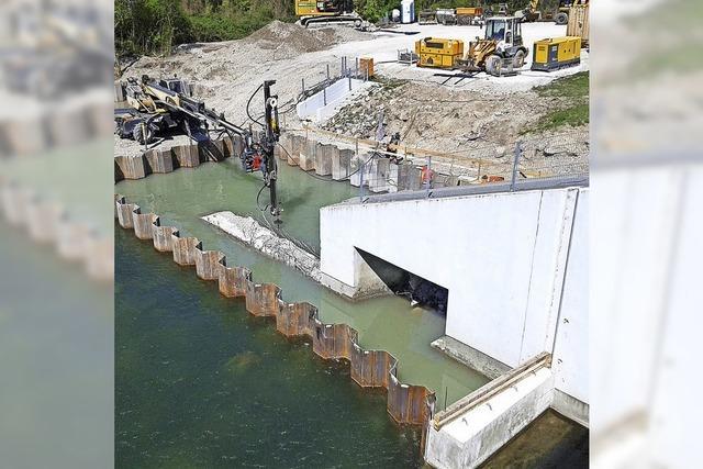 Fischpass am Möhlinwehr ist bald fertig