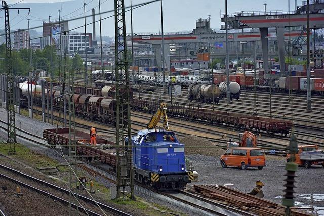 Neue Gleise und neue Abstellanlage für Badischen Rangierbahnhof