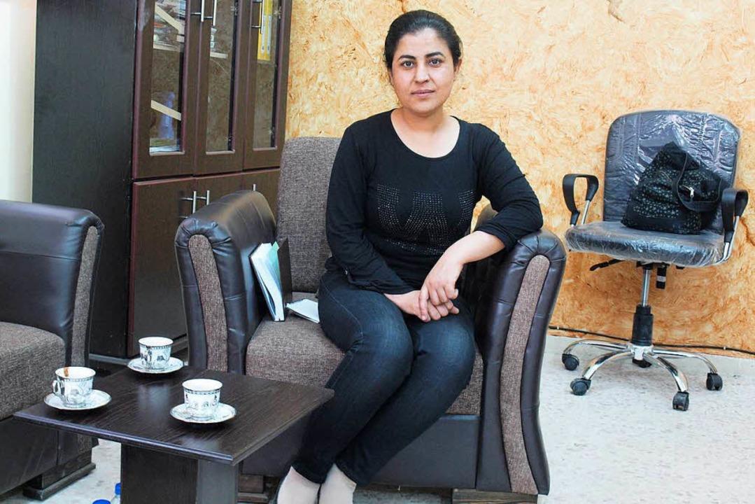 Die neue Bürgermeisterin Leila Mustafa...ie ist Kurdin und trägt kein Kopftuch.  | Foto: Rehmann