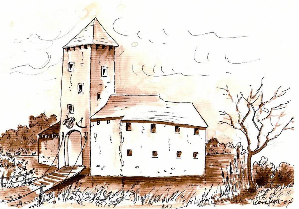 So hat der Binzener Hans Hügel das Schloss gezeichnet.   | Foto: Herbert Frey