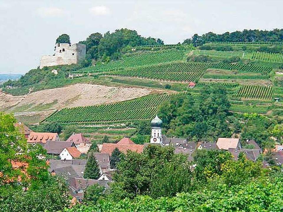 Die Lage des Hecklinger Schlossbergs    Foto: privat