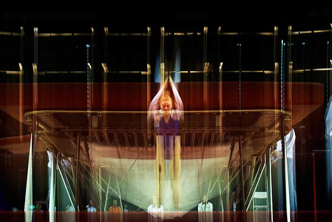 Seit den Spielen in Sydney 2000 ist Trampolinturnen olympisch.   | Foto: AFP/Laura Maria Drzymalla