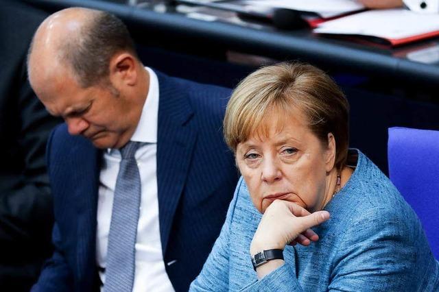 Die Große Koalition ist geprägt von Misstrauen
