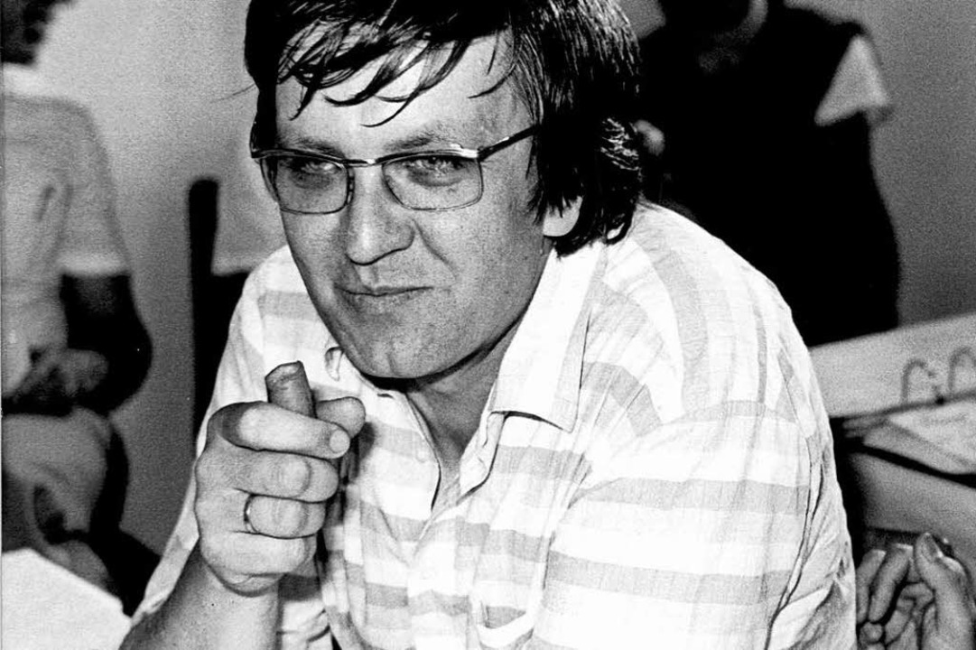 Karotte statt Zigarre: der frühe Kretschmann (1983)  | Foto: DB Obertreis