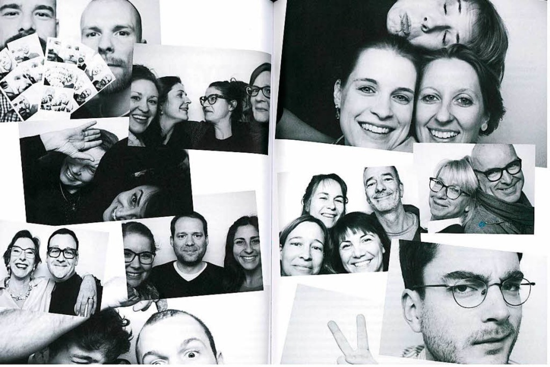 Theaterleute inszenieren sich selbst: Selfies aus dem Automaten in der Kantine  | Foto: Theater Freiburg