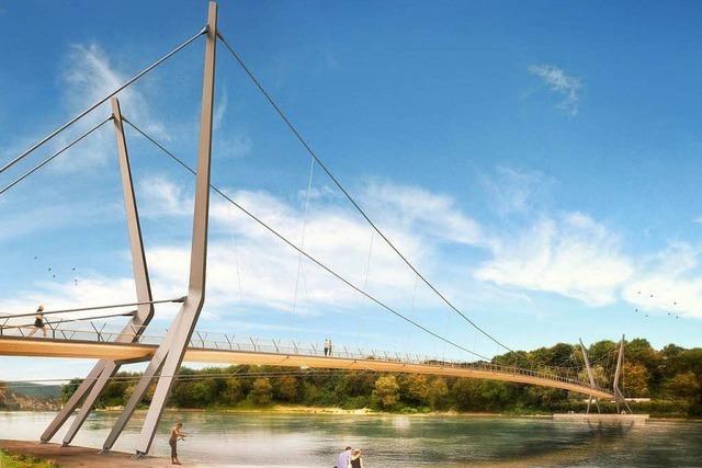 Der Rheinsteg in Rheinfelden kommt