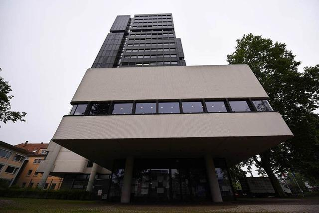 Lörracher Rathausfassade muss mit Netzen gesichert werden