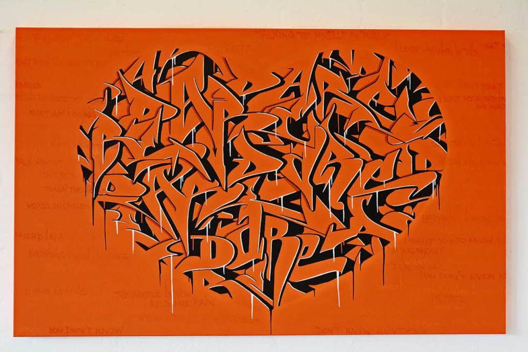 Werke des Graffiti-Künstlers Sigi von ...nd in der Stiftung Brasilea zu sehen.   | Foto: Annette Mahro