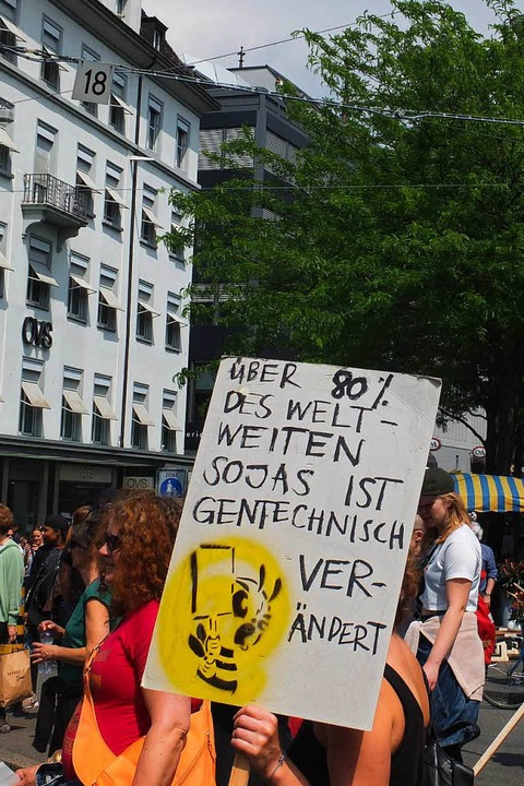 March against Monsanto in Basel  | Foto: Martina David-Wenk