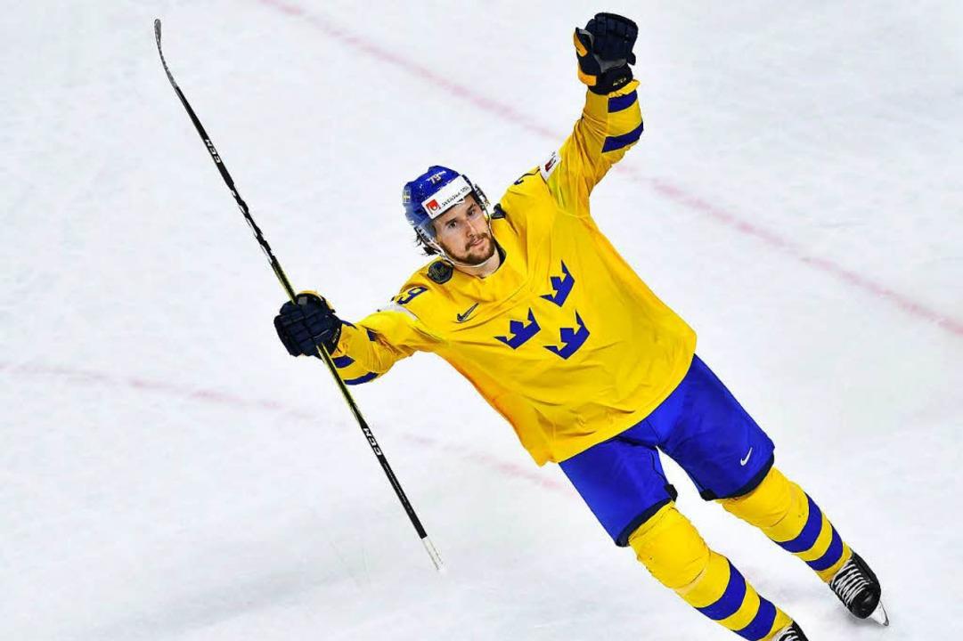 Verwandelte den entscheidenden Penalty: Filip Forsberg.    Foto: AFP