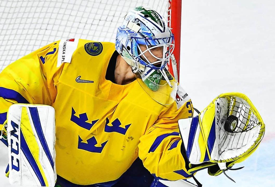 Schwedens Torwart Anders Nilsson.    Foto: AFP