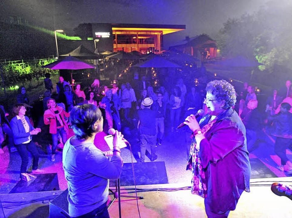 Randy Club baten Angela Mink auf die Bühne  | Foto: Markus Zimmermann