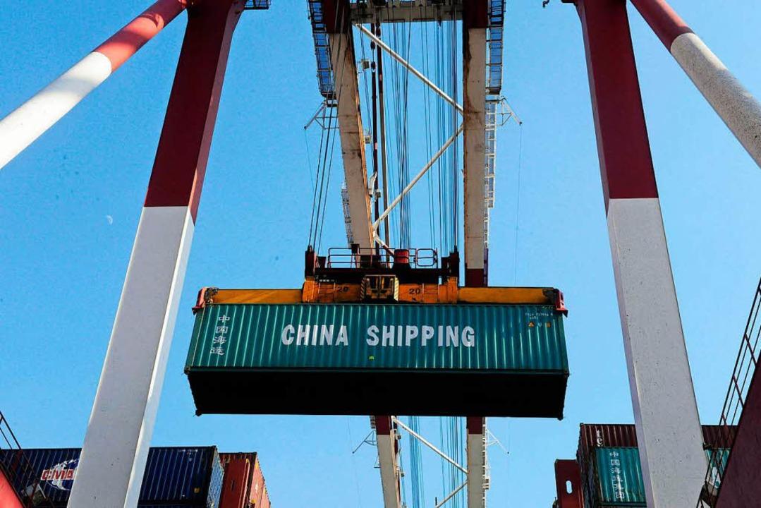 China (im Bild der Containerhafen von ...will künftig mehr US-Güter erwerben.      Foto: AFP