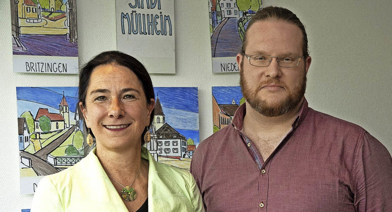Die Müllheimer Integrationsbeauftragte...der Integrationsmanager Jorma Reuland.    Foto: Volker Münch