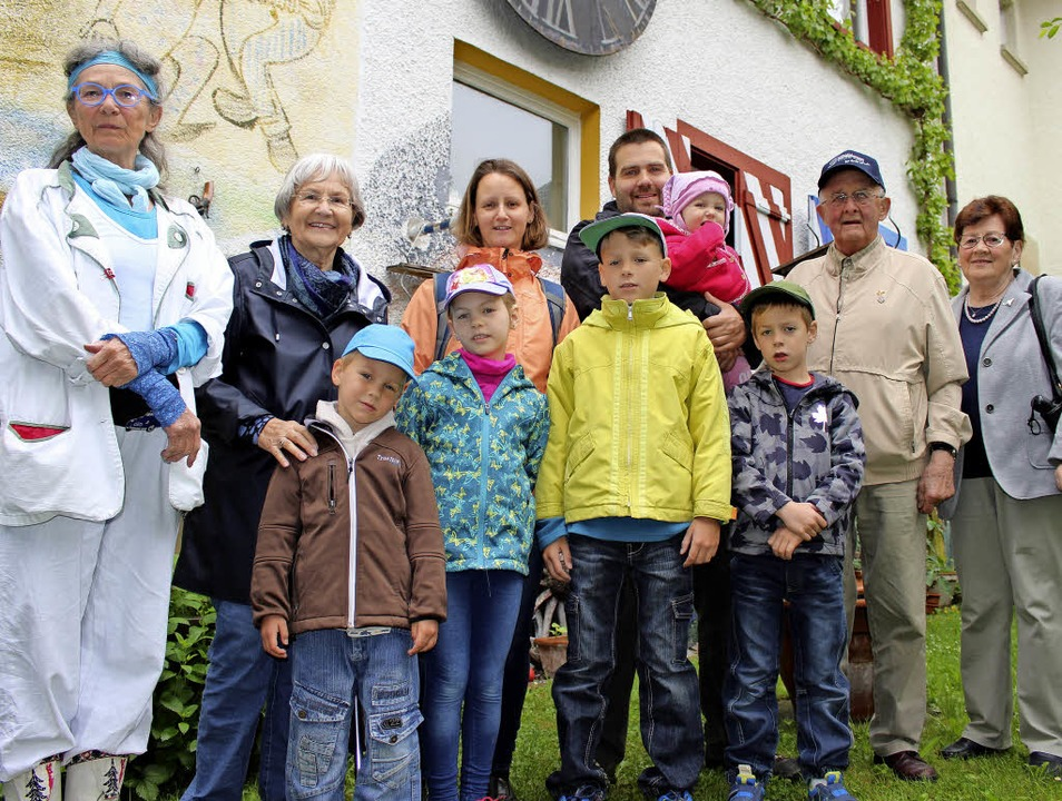 Ungarisch-deutsche Freundschaft beim B...rton Kovacs, Herbert und Maria Bayer.   | Foto: Guy Simon