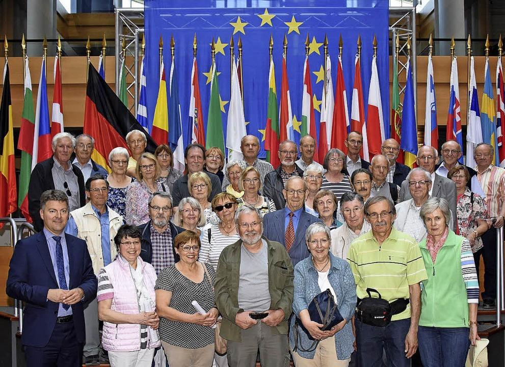 <BZ-FotoAnlauf>im Europaparlament</BZ-FotoAnlauf> waren die Besucher aus Sulz.    Foto: Privat