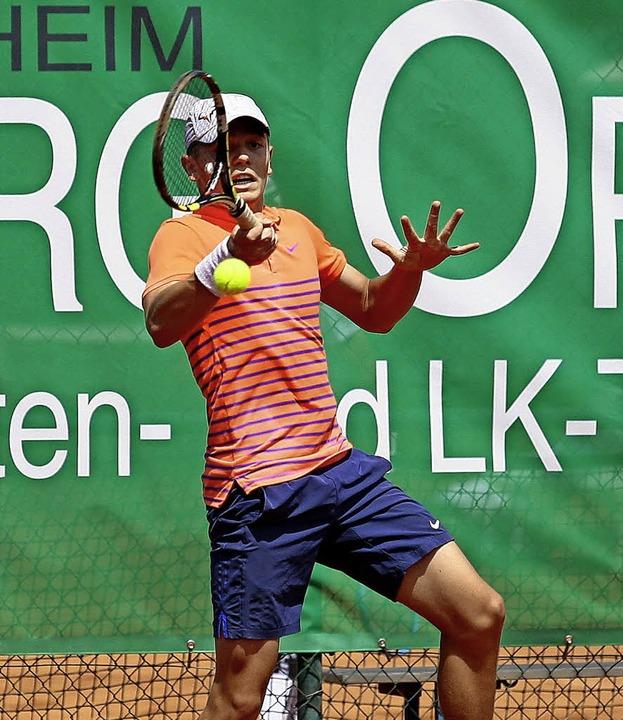 Valentin Baranyi gab im Finale eine gu... aber dem Favoriten geschlagen geben.   | Foto: Peter Aukthun