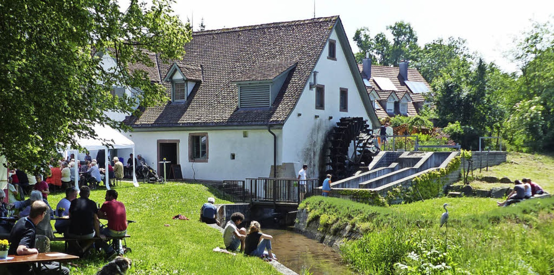 Mit so vielen Besuchern hatten der Mühlenverein in Umkirch gar nicht gerechnet.   | Foto: Claudia Bachmann-Goronzy