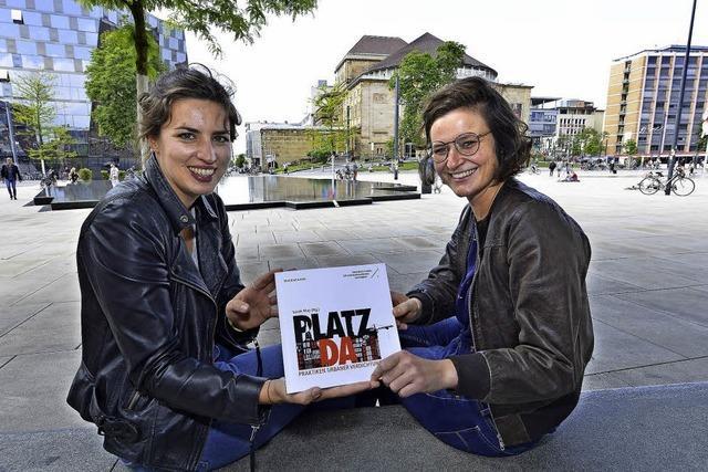 Zwei Freiburger Studentinnen untersuchen den Platzbedarf der Freiburger