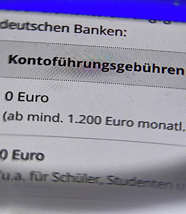 Bei vielen Banken nicht mehr kostenlos: das Girokonto     Foto: dpa