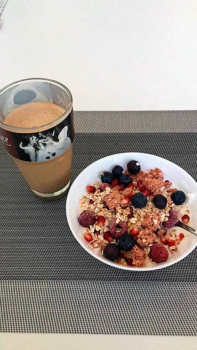 9.50 Uhr: Ein gesundes Frühstück ist wichtig für Lisa Wissert.    Foto: Lisa Wissert