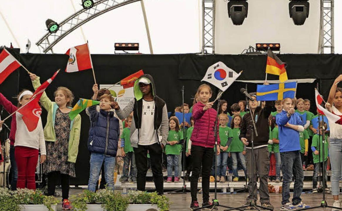 <BZ-FotoAnlauf>Natur und Schöpfung</BZ...erten Lahr als multikulturelle Stadt.   | Foto: Schule