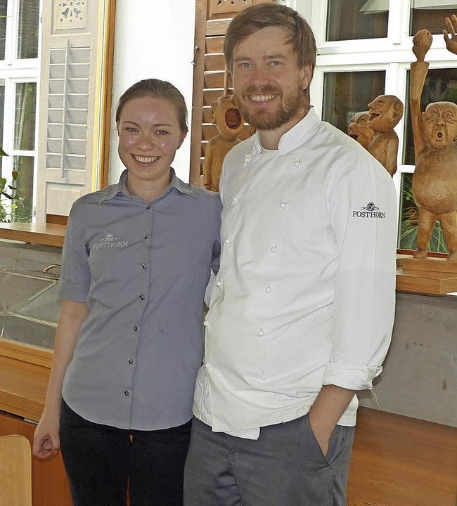 Gesa Breuhaus und ihr Chef Daniel Fech...aurantfachfrau beim Landeswettbewerb.     Foto: Elisabeth Baumeister